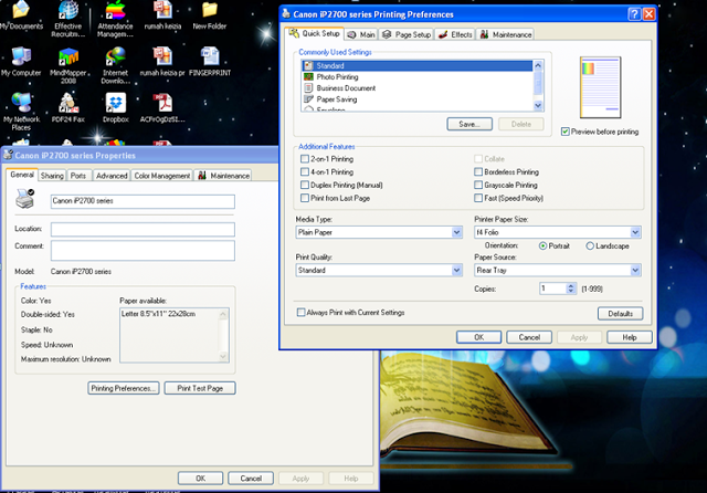 Cara merubah settingan warna printer IP2770 menjadi hitam putih