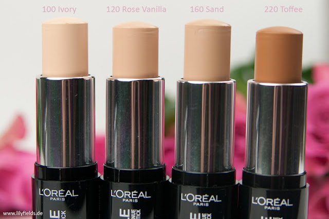 L'Oreal - Infaillible Kontur-Stick Foundation - Swatches