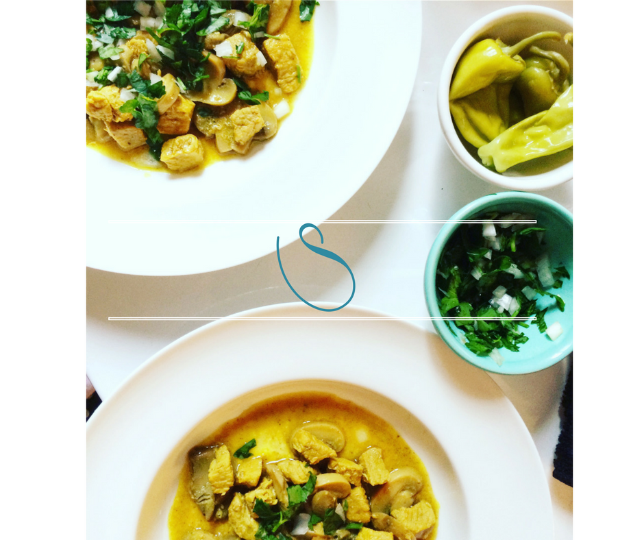#Tender veal with mushrooms in a turmeric sauce | Veau tendre & champignons avec une sauce au curcuma