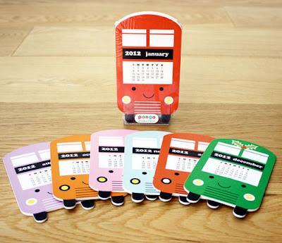 london bus desk calendar