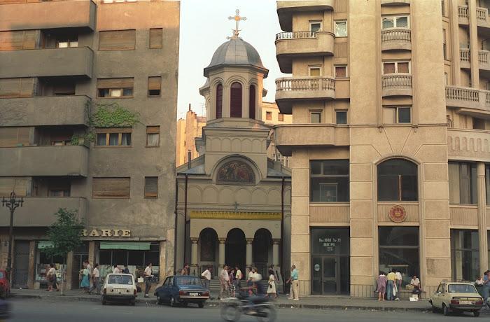 Bucarest, Église Saint Ioan Nou, boulevard  Ion C. Brătianu, © L. Gigout, 1990