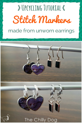 Learn how to make DIY knit and crochet stitch markers from broken or unworn earrings