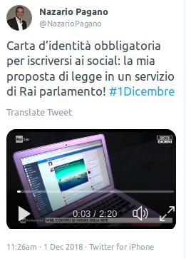 Il Disinformatico Italia Senatore Propone Ddl Carta D