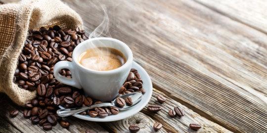 Tea made with caffeine