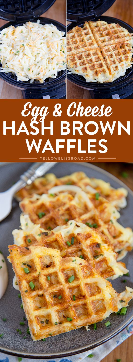 These easy, cheesy hash brown waffles are just the hack you need to simplify your breakfast routine! #breakfastlovers #ad @SimplyPotatoes