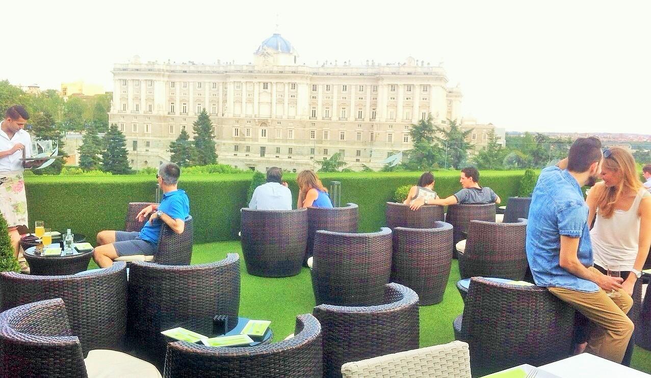 La Terraza De Los Jardines De Sabatini Madrid Y Sus Cosas