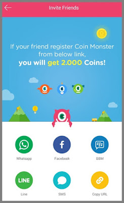 Coin Monster Hasilkan Pulsa Gratis
