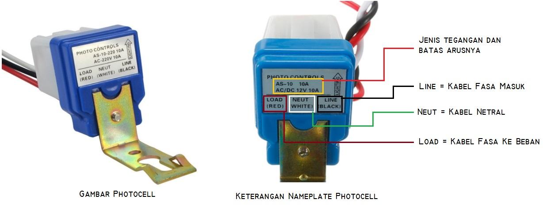Memasang Photocell Untuk Menyalakan Lampu ~ Guru Listrik Keren