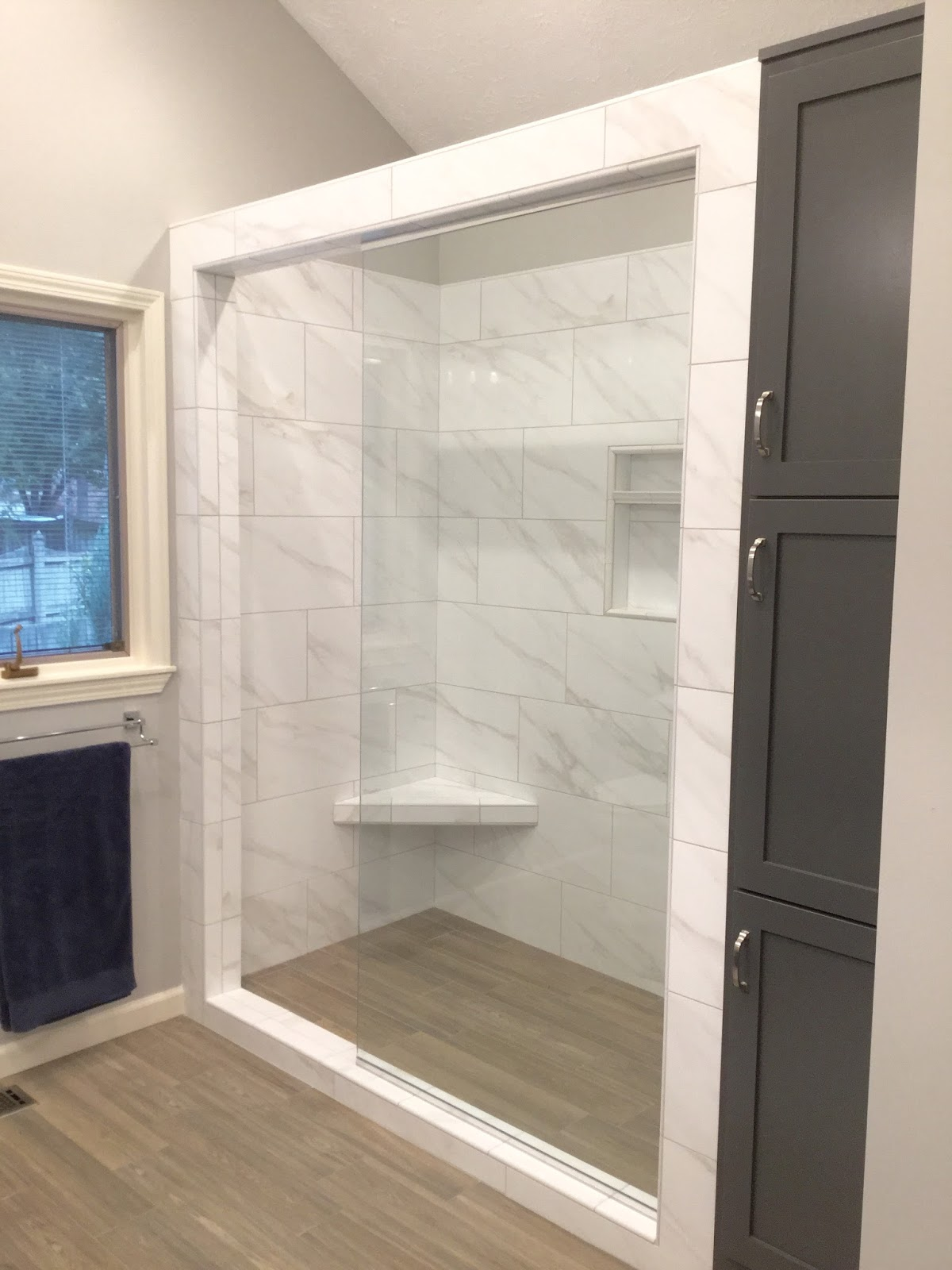 Fancy Hope you enjoyed seeing this Master Bathroom en suite renovation e to life Onto the next project