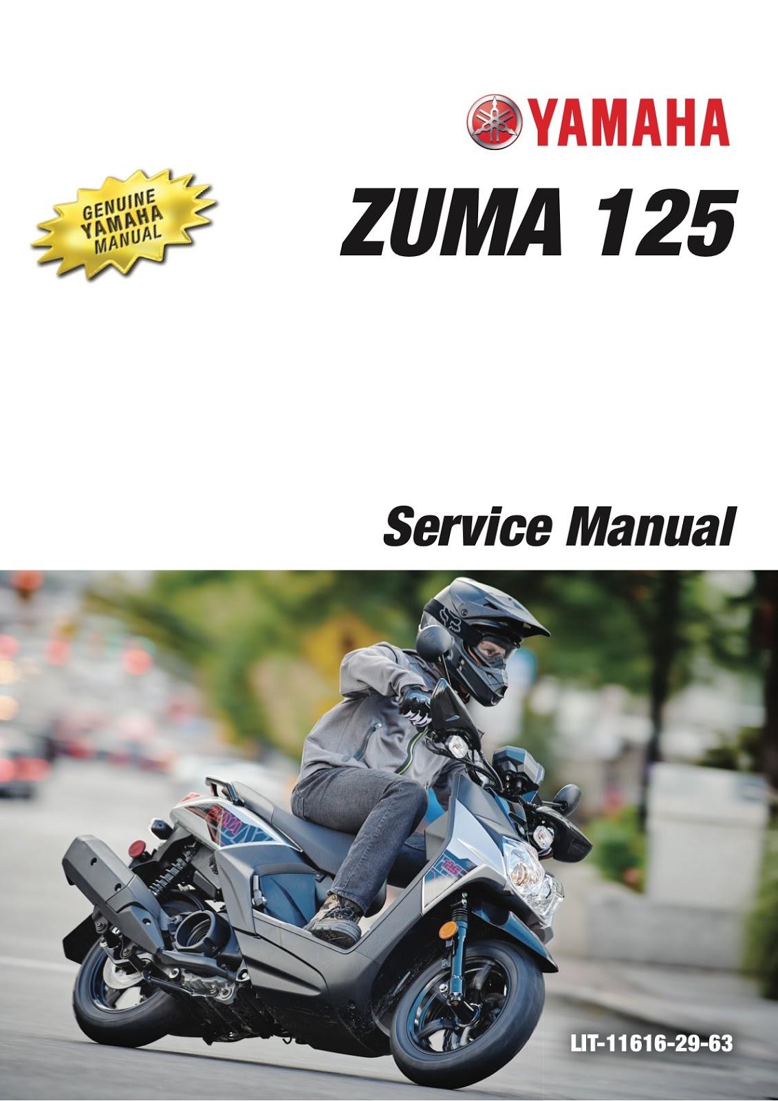on 2009 Yamaha Zuma 125 Service Manual