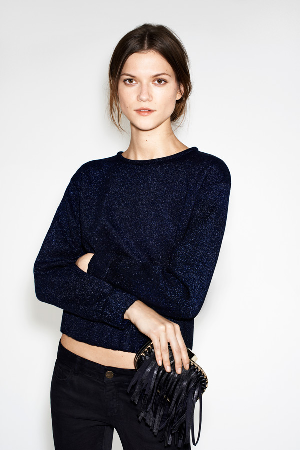Zara December 2012 Lookbook featuring Kasia Struss