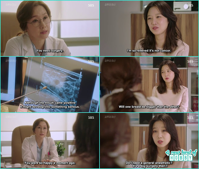 the doctor suggest na ri for the breast surgery - Jealousy Incarnate - Episode 3 Review - Hospital Encounter