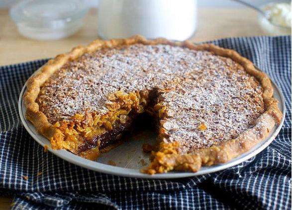 Овсяно-шоколадный пирог