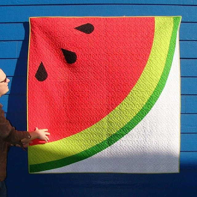Sliced watermelon quilt pattern by Slice of Pi Quilts