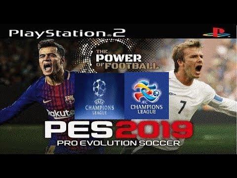 pes 2019 PS2 UEFA Champions League & AFC Champions League تحميل