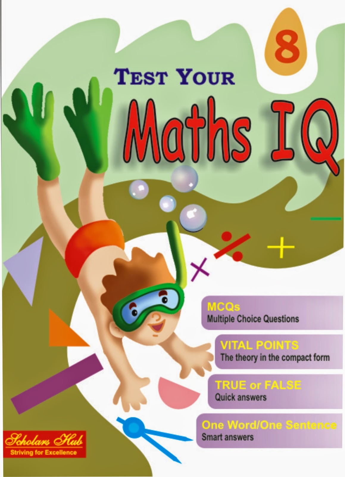 Test Your Maths IQ Books Class VI TO X MOST POPULAR BOOK For MATHS