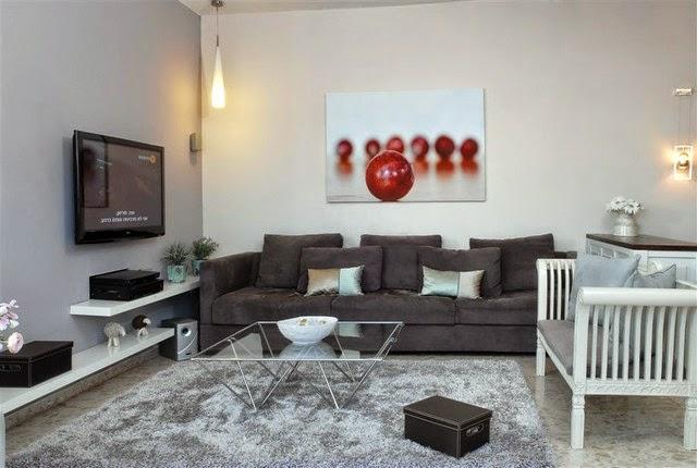 diseño sala gris blanco