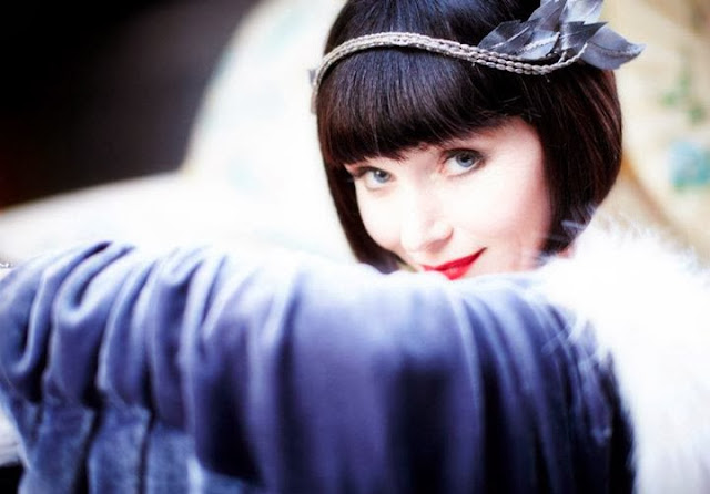 'MISS FISHER'S MURDER MYSTERIES,' SERIES ONE (2012). Essie Davis stars as the titular character in this 1920s TV adaptation. All text is © Rissi JC