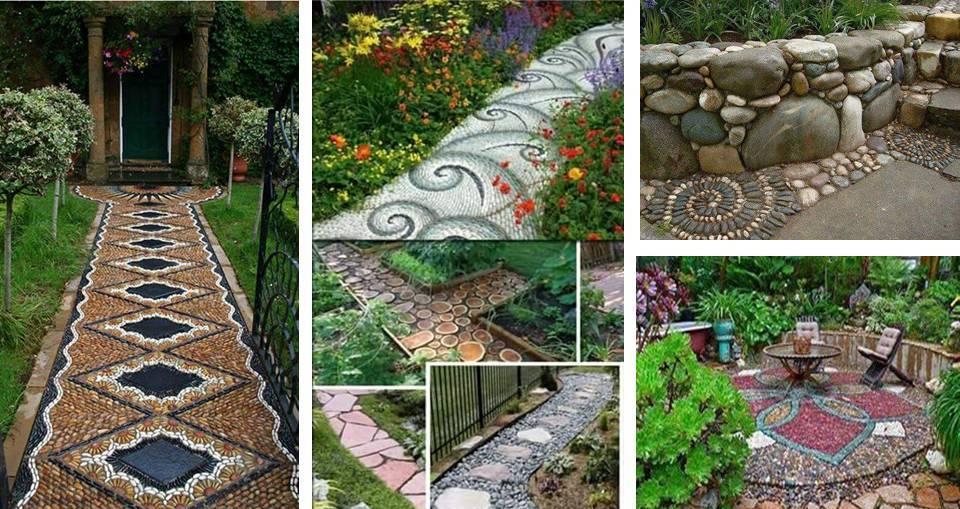 DIY Garden Stones Path Designs