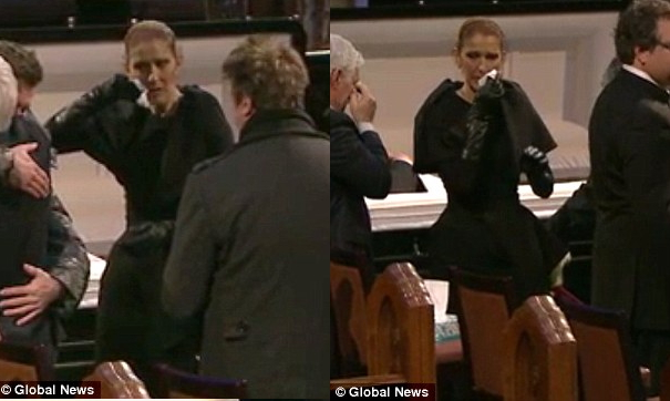 celine dion husband burial