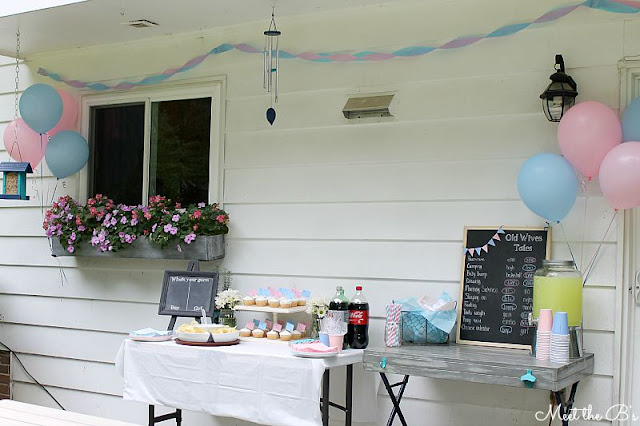 Easy DIY gender reveal party decorations