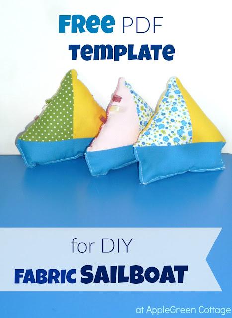 free pdf printable template fabric sailboat toy applegreen cottage