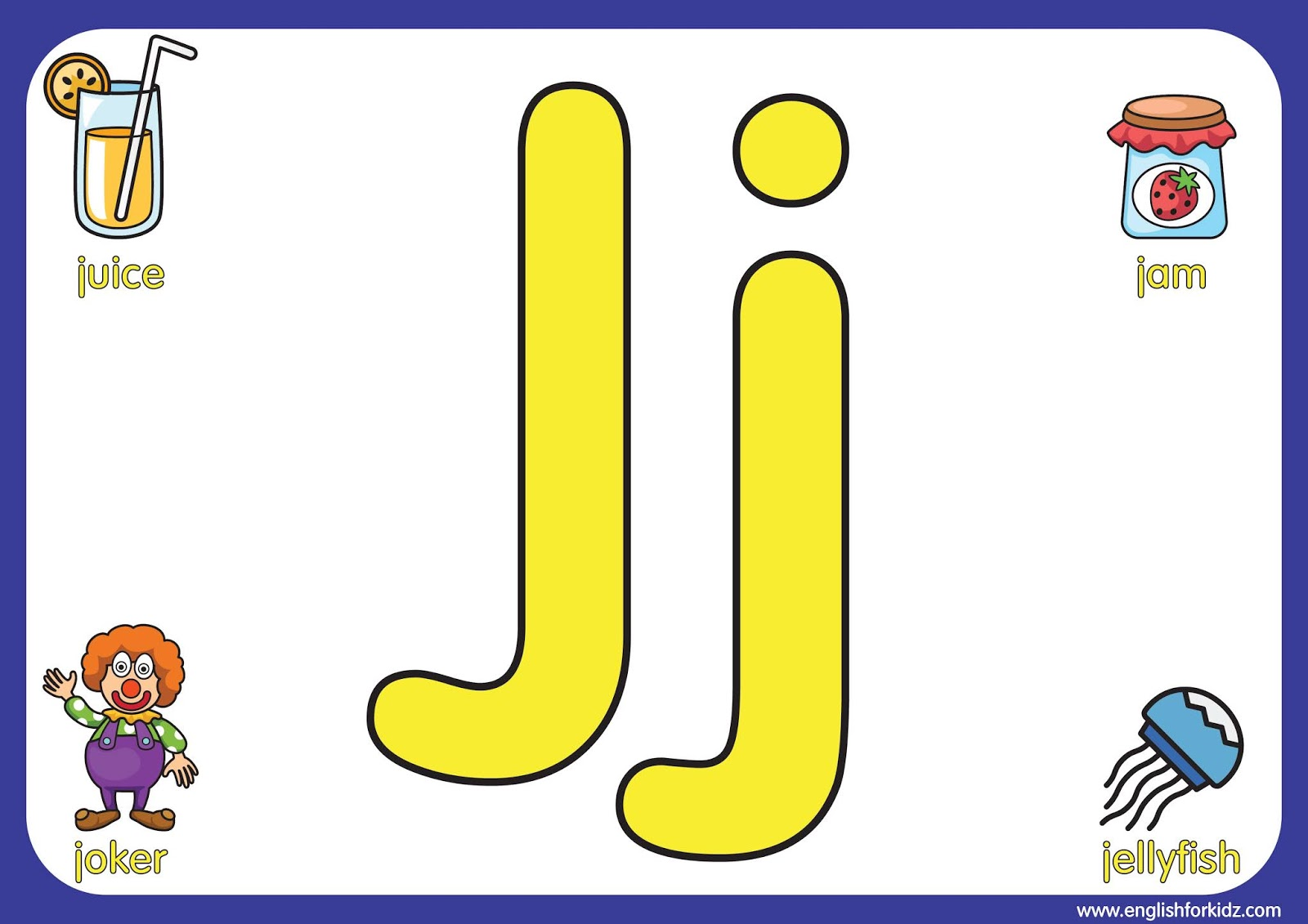 English For Kids Step By Step Letter J Worksheets Flash
