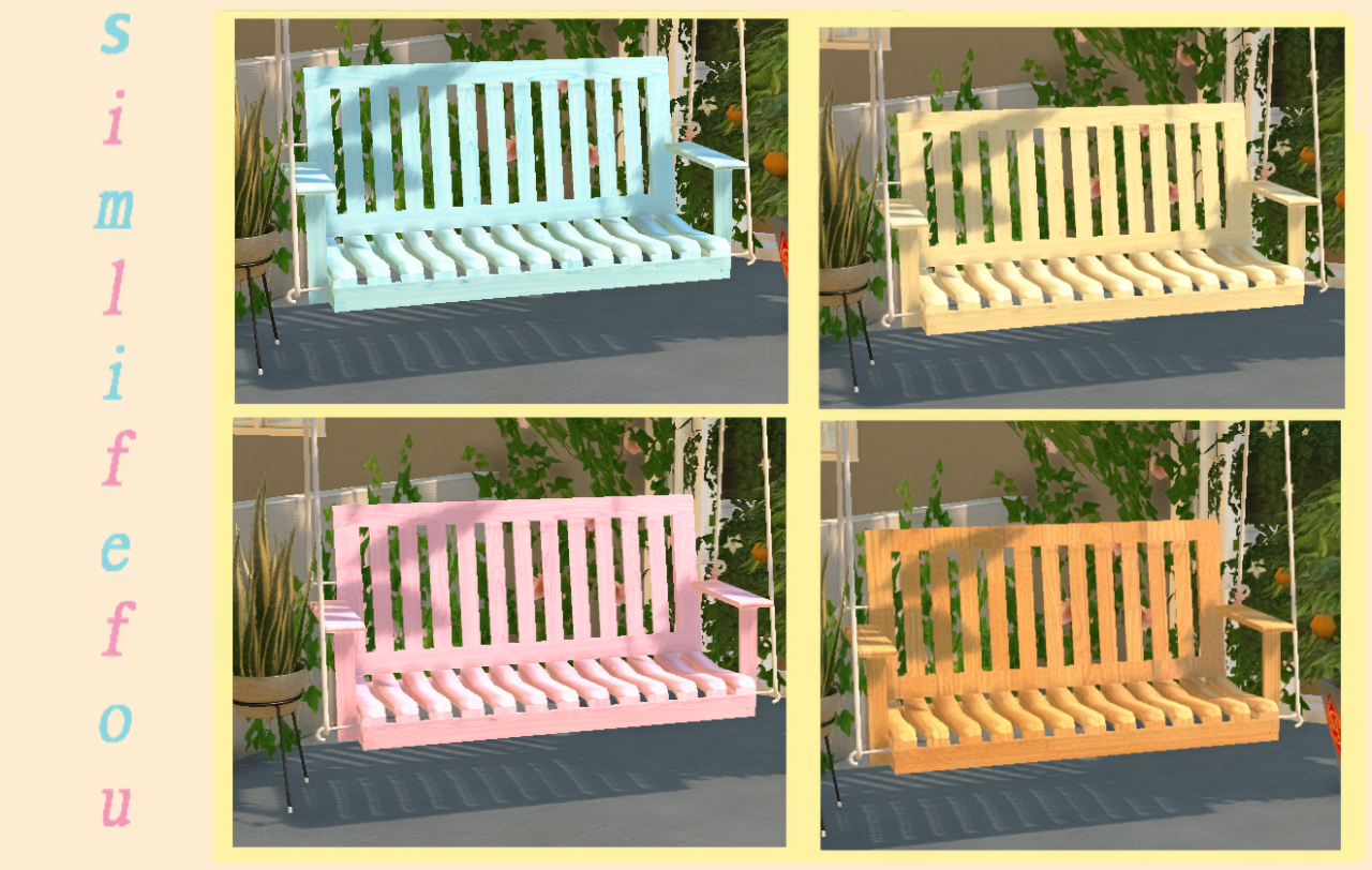 My Sims 4 Blog Ts2 Porch Swing Conversion By Mysimlifefou