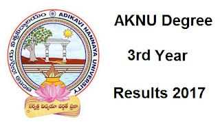 manabadi aknu degree 3rd year results 2017