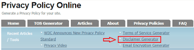 Contoh gambar ilustrasi tampilan Privacy Policy Online