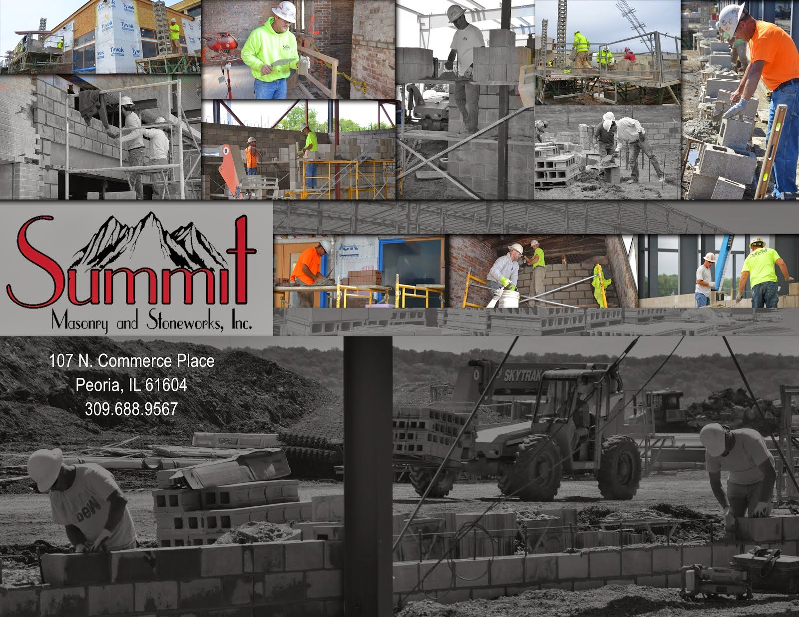 Summit Masonry Photo Montage