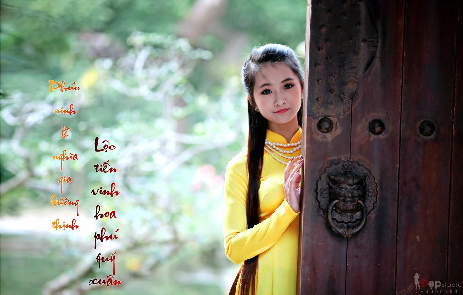 Ảnh đẹp girl xinh Áo dài truyền thống Việt Nam - Ảnh 16