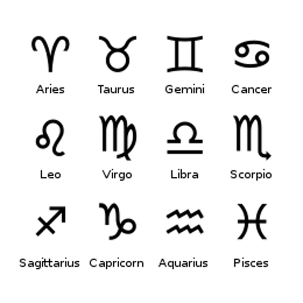 stellArium & ethereal counterparts: astrological symbols