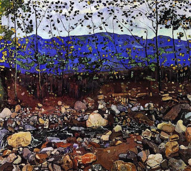 Ferdinand Hodler riverbed landscape