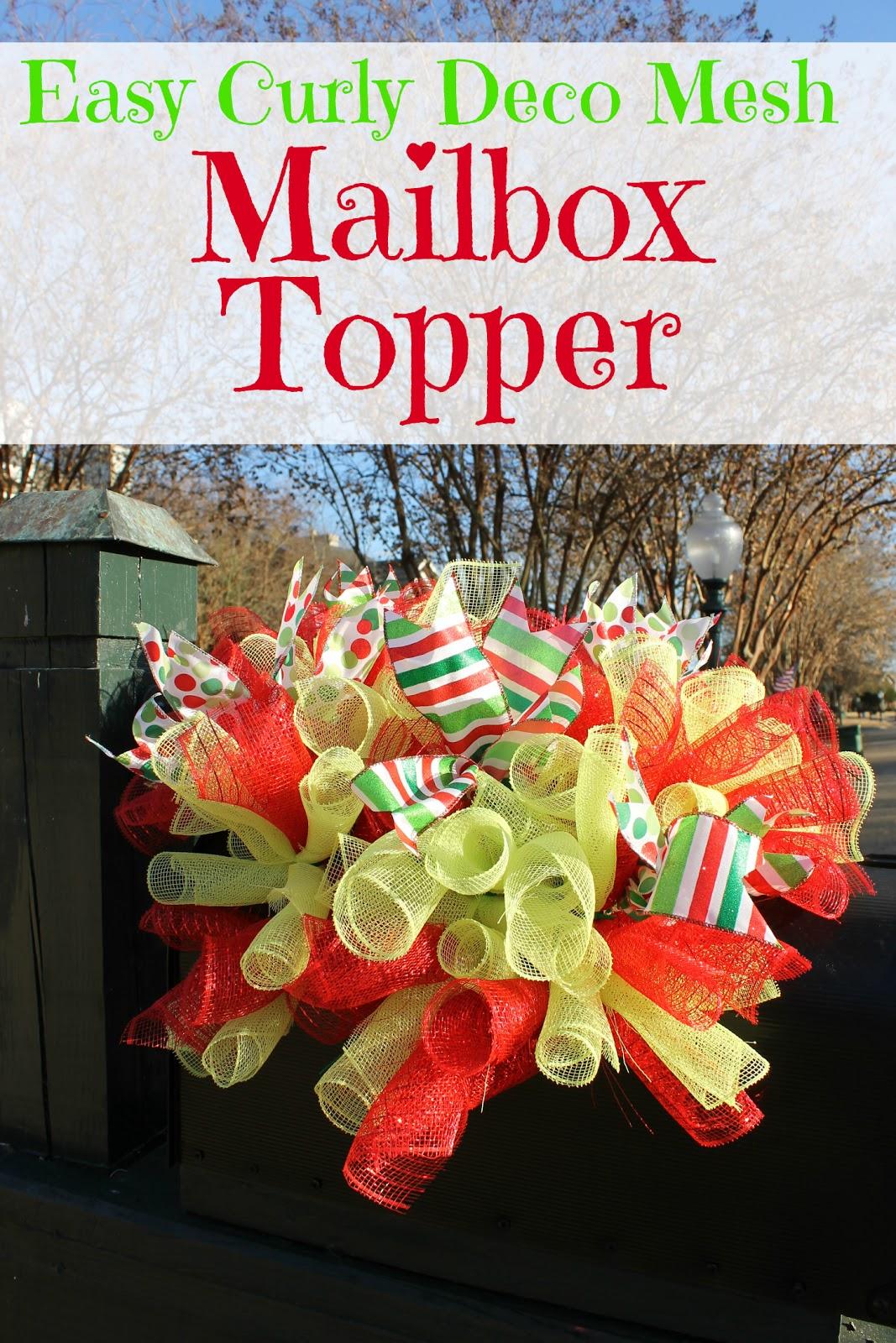 Curly Deco Mesh Mailbox Topper Miss Kopy Kat
