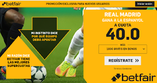 betfair supercuota Real Madrid gana a Espanyol 22 septiembre
