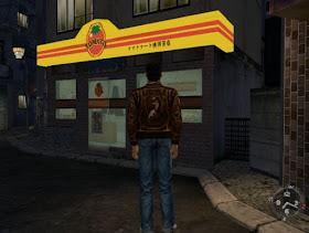 Ryo outside the Tomato Convenience Store