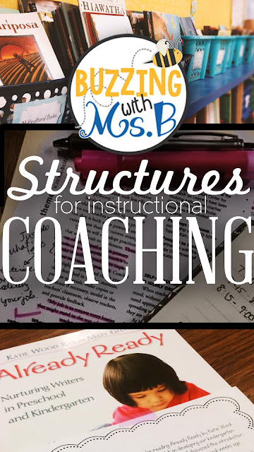There are lots of roles that instructional coaches serve. These six different structures help coaches meet the needs of their teachers and provide learning experiences! Get ideas for how you can provide differentiated support through providing professional development, hosting a book study, conducting data meetings and grade level meetings, modeling, and coteaching in classrooms!