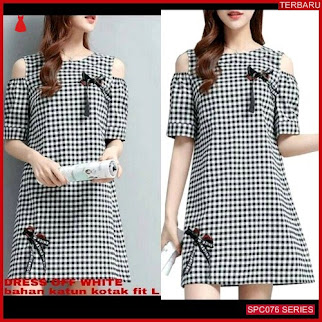 SCP076D67 Dress Kotak Misco Offwhite Dress Wanita | BMGShop