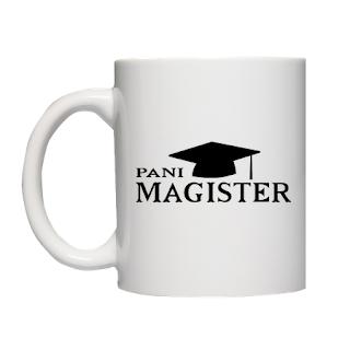 prezent na obronę magisterską Kubek Pani Magister