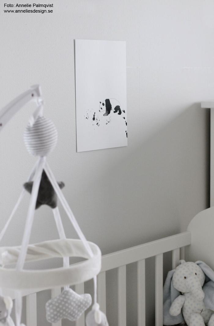 annelies design, panda, tavla, tavlor, poster, posters, print, prints, konsttryck, barnrum, barnrummet, inredning,