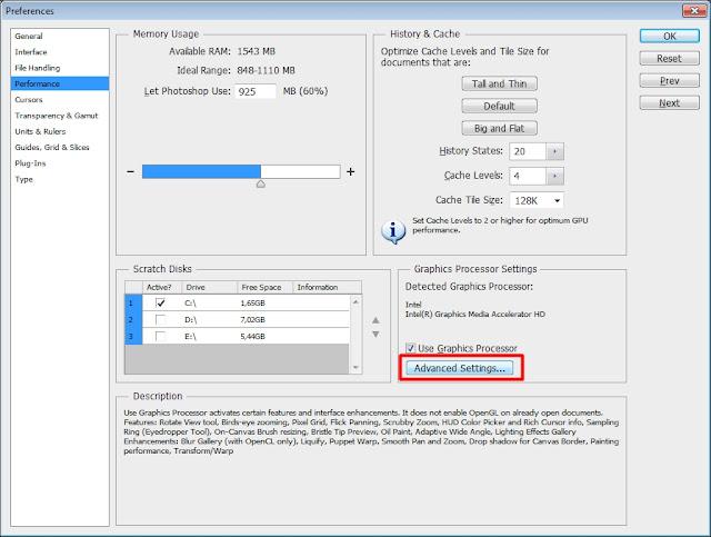 Mengatur Performa Photoshop Sesuai Spesifikasi PC