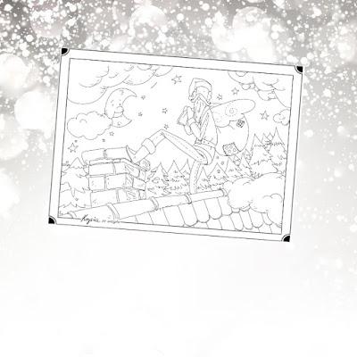 Krysia to uszyła - anielska kolorowanka na Mikołajki