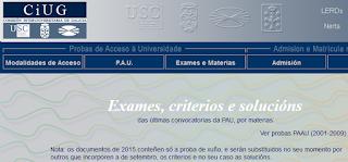 http://ciug.cesga.es/exames.php