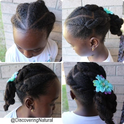 Simple Hairstyle for Tender Headed Kids | Natural Hair