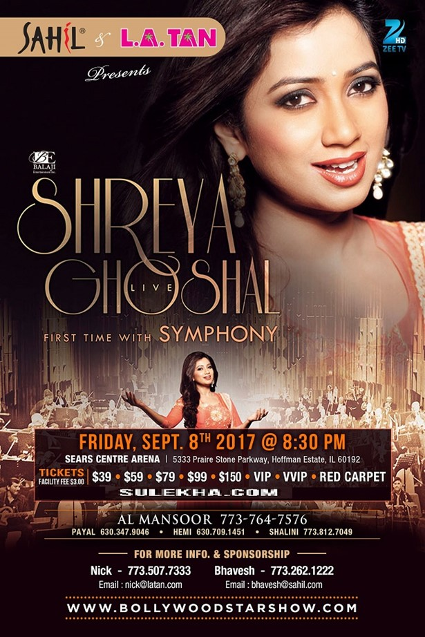 Shreya Ghoshal Live Concert in USA