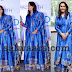 Royal Blue Floor Length Silk Salwar