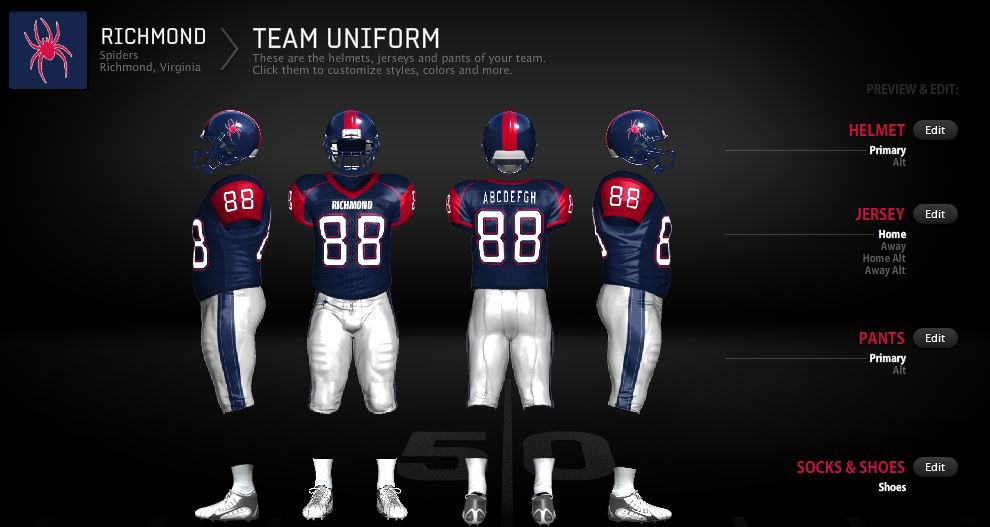 Sports & Entertainment Blog: Richmond Spiders Football Concept