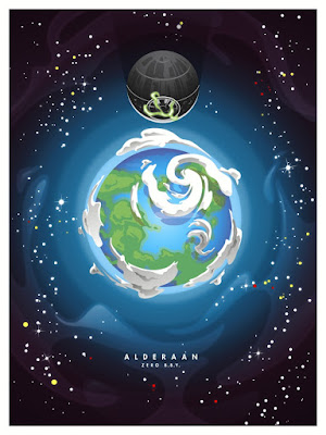 "Star Wars ""Alderaan"" Screen Print by Joshua Budich"