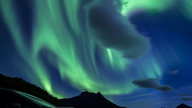 Grøtfjord, aurora boreal - Kvaløya, Noruega, por Álvaro